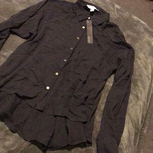 Lumière button up blouse size Medium NWT!♥️
